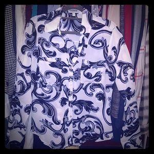 Express Slim Fit Portofino Shirt | Size Small
